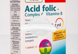 ACID FOLIC+COMPLEX VIT.B 30tb DOPPEL HERZ Tratament naturist capacitate de efort sustinuta nervi tari acid folic