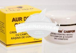 AUR DERM CREMA CAMFOR 50ml LAURMED Tratament naturist antiinflamatoare antireumatica afectiuni reumatice afectiuni reumatismale