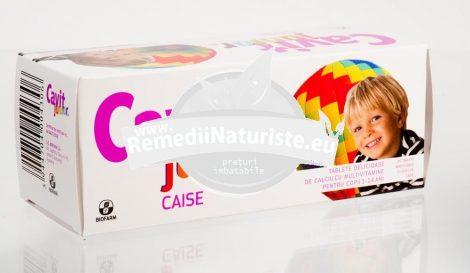CAVIT JUNIOR CAISE 20tb masticabile BIOFARM Tratament naturist lipsa poftei de mancare oboseala alimentatie dezechilibrata absorbtie deficitara de vitamine
