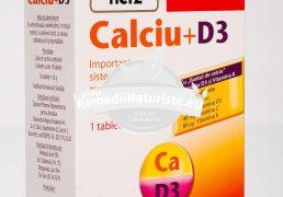 CALCIUM + D3 30tb DOPPEL HERZ Tratament naturist alimentatie neechilibrata sarcina alaptare solicitare fizica