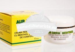 AUR DERM CREMA MENTHOL 50ml LAURMED Tratament naturist antiinflamatoare antireumatica dureri musculare guta