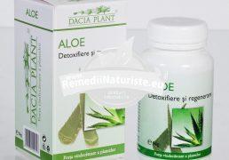 ALOE 60cpr DACIA PLANT Tratament naturist detoxifiere si regenerare antiinflamator detoxifiere hepatita cronica