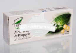 ALOE&PROPOLIS 30cps BLISTER MEDICA Tratament naturist imunitatea organismului ulcer gastric antiinflamator detoxifiere