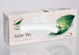 ALOE VERA 30cps blister MEDICA Tratament naturist antiinflamator detoxifiere hepatita cronica digestie