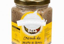 CREMA DE MIERE SI NUCI 210gr SOLARIS Tratament naturist antioxidant antiseptic antibacterian antiinflamator