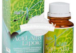 ACID ALFA LIPOIC 60cps HYPERICUM Tratament naturist antioxidant rol neuroprotector detoxifiere neuroprotector