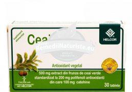 CEAI VERDE 30cpr AC HELCOR Tratament naturist antioxidant antitumoral prevenirea ridarii premature prevenirea afectiunilor cardiovasculare