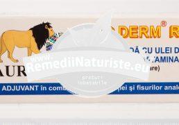 AUR DERM SUPOZITOARE CU RICIN,PARAFINA,VITAMINA A 10x1,5g LAURMED Tratament naturist hemoroizi fisuri anale antiseptic antiinflamator
