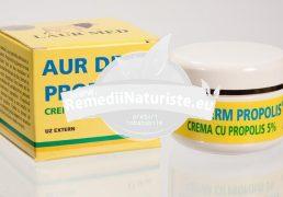 AUR DERM CREMA PROPOLIS 30ml LAURMED Tratament naturist leziuni cutanate arsuri ale pielii psoriazis zona zoster