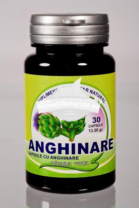 ANGHINARE 30cps HERBAVIT Tratament naturist scade nivelul colesterolului si trigliceridelor bila ficat glicemie