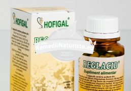 REGLACID 60cps HOFIGAL Tratament naturist regleaza aciditatea gastrica imbunatateste digestia boli de stomac si intestinale reflux gastroesofagian
