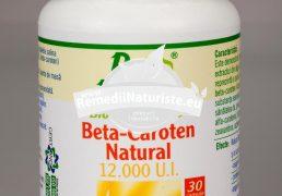 BETA-CAROTEN NATURAL 12000 U.I. 30cps ROTTA NATURA Tratament naturist sustine sanatatea ochilor protejeaza pielea impotriva radiatiilor ultra-violete bronzare prevenirea alergiilor solare