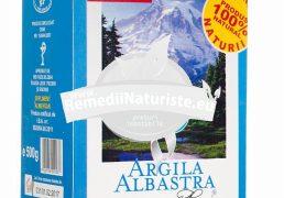 ARGILA ALBASTRA DE RACIU PULBERE 500gr ROMCOS Tratament naturist uz cosmetic cancer leucemie dermatoze