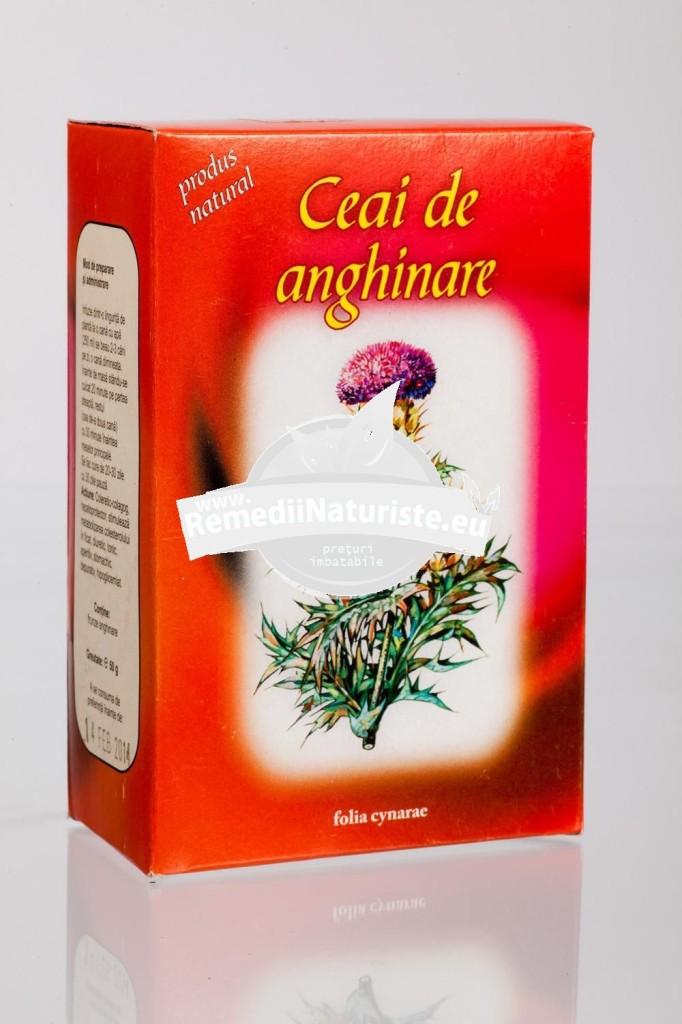 CEAI ANGHINARE FRUNZE 50gr STEFMAR Tratament naturist disfunctii hepatobiliare hepatite cronice coleretic-colagog hepatoprotector