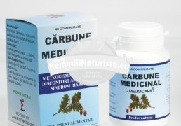 CARBUNE MEDICINAL 40cps PONTICA Tratament naturist balonare diaree disconfort abdominal colon iritabil
