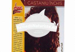 VOPSEA PAR HENNA CASTANIU INCHIS 100gr KIAN COSMETICS Tratament naturist pentru vopsirea parului colorarea parului produs vegetal si pentru tratarea eczemelor