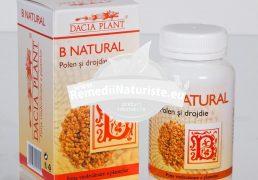 B NATURAL (POLEN&DROJDIE)60cpr DACIA PLANT Tratament naturist stari de oboseala cefalee intoxicatii boli digestive