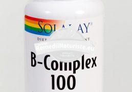 B-COMPLEX 100mg 50cps SECOM Tratament naturist imbunatateste capacitatea de concentrare stimuleaza memoria oboseala depresiile