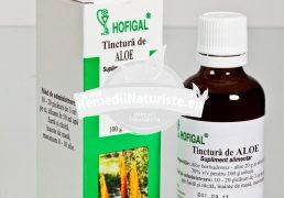 TINCTURA ALOE 50ml HOFIGAL Tratament naturist alergii eczeme constipatie cauzate de alterarea colonului arsuri termice, solare, chimice