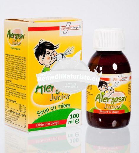 ALERGOSIN JUNIOR SIROP CU MIERE 100ml FARMACLASS Tratament naturist eficient in alergii copii alergii copii rinita copii