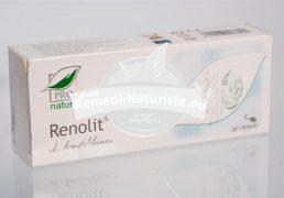 RENOLIT 30cps blister MEDICA Tratament naturist micreolitiaza renala infectii urinare creste diureza favorizeaza eliminarea microcalculilor renali