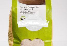 FAINA INTEGRALA DE GRAU ECOLOGIC 500gr LONGEVITA Tratament naturist aliment ecologic pentru o dieta sanatoasa demineralizare anemie rahitism
