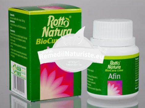 AFIN 30cps ROTTA NATURA Tratament naturist diabet arteroscreloza cerebrala acuitate vizuala scaderea glicemiei