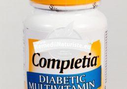 COMPLETIA DIABETIC 30tb SECOM Tratament naturist adjuvant in metabolismul glucozei si afectiuni provocate de diabet diabet zaharat de tip 1 si 2 complicatii ale diabetului parastezii