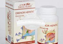 DRENOR HEPATIC 60cpr DACIA PLANT Tratament naturist elimina bila diskinezie biliara colecistita acuta si cronica colici hepatobiliare