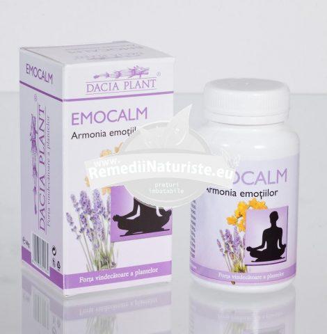 EMOCALM 60cps DACIA PLANT Tratament naturist calmeaza emotiile puternice distonii neurovegetative insomnie depresie