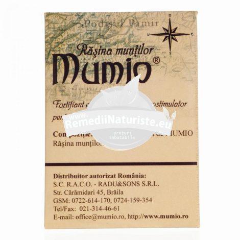 MUMIO PLASTINE 5g RADU & SONS Tratament naturist supliment alimentar biologic activ fortifiant antitoxic imunomodulator