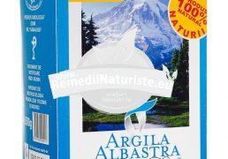 ARGILA ALBASTRA DE RACIU GRANULE 500gr ROMCOS Tratament naturist uz cosmetics gingivite afte bucale parodontoze