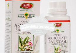 ARTICULATII SANATOASE 60cps FARES Tratament naturist guta antiinflamator diuretic reumatim