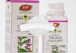 TIROIDA 60cps FARES Tratament naturist hipertiroidism noduli tiroidieni boala basedow graves