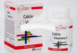 CALCIU VITAMINA C 30 cps FARMACLASS Tratament naturist hipocalcemie spasmofilie tetanie calcipriva spasmofilie