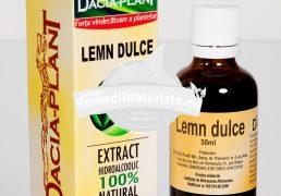 TINCTURA LEMN DULCE 50ml DACIA PLANT Tratament naturist expectorant antitusiv calmant gastric hirsutism