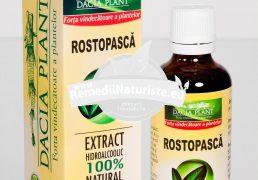 TINCTURA ROSTOPASCA 50ml DACIA PLANT Tratament naturist afectiuni hepato-biliare colecistopatie icter hepatita virala a,b,c