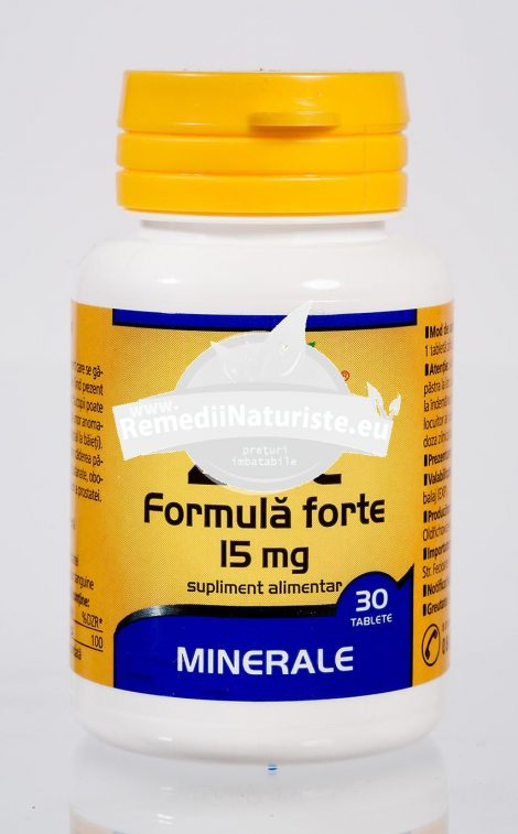 ZINC 15mg 30tb WALMARK Tratament naturist caderea parului unghii oboseala imunitate