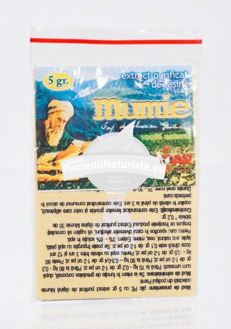EXTRACT PURIFICAT DE RASINA MUMIE 5g DAMAR Tratament naturist supliment alimentar biologic activ imunostimulator detoxifiere tonic si energizant