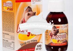APPETITE JUNIOR- SIROP CU MIERE COPII 100ml FARMACLASS Tratament naturist cresterea poftei de mancare anemie vitaminizant imunostimulent