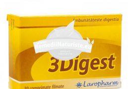 3 DIGEST 30cpr LAROPHARM Tratament naturist imbunatateste digestia indigestie pancreatita pancreas