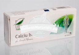 CALCIU BIOLOGIC 30cps BLISTER MEDICA Tratament naturist hipocalcemie spasmofilie influenteaza permeabilitatea capilarelor formarea oaselor