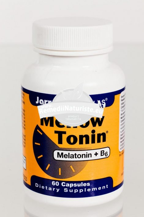 MELLOW TONIN 60cps SECOM Tratament naturist insomnii antioxidant insomnie datorata schimbarii fusului orar alzheimer