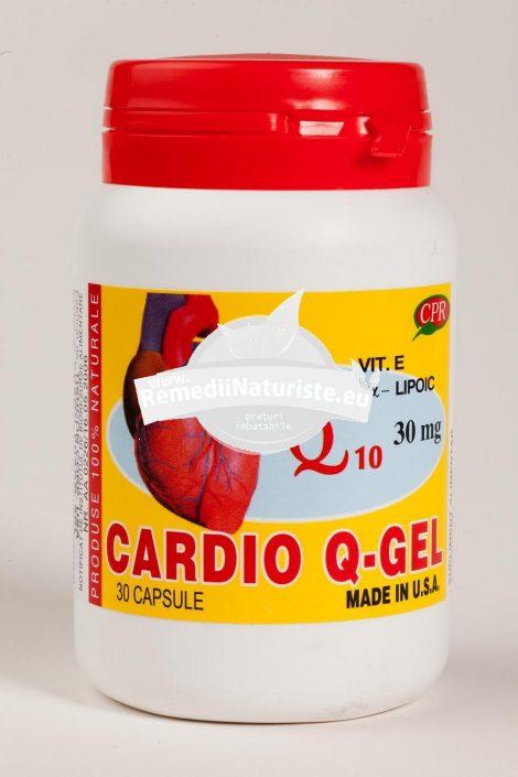 CARDIO Q_GEL 30CPS COSMOPHARM Tratament naturist insuficienta cardiaca insuficienta cardiaca congestiva cardiomiopatie prolaps de valva mitrala