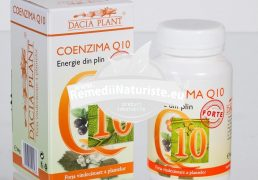 COENZIMA Q10 FORTE 60cpr DACIA PLANT Tratament naturist energizant antioxidant antihipertensiv insuficienta cardiaca cronica