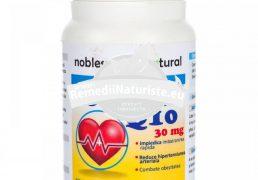 COENZIMA Q10 30cps NOBLESSE NATURAL Tratament naturist sistem vascular insuficienta cardiaca sportivi cura de slabire