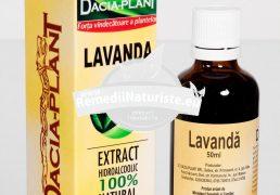 TINCTURA LAVANDA 50ml DACIA PLANT Tratament naturist nevroze migrene cefalee afectiuni cardiace cu substrat nervos