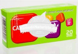 CALCIU 500mg + VIT.D3 FR. DE PADURE 20cpr masticabile BIOFARM Tratament naturist oase dinti sistemul nervos contractie musculara