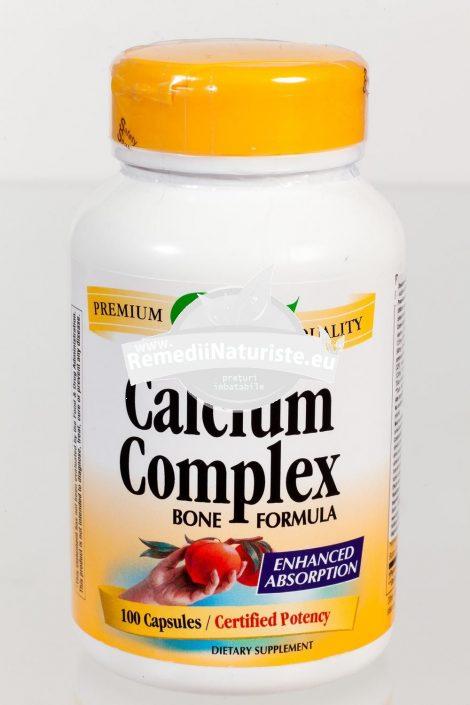 CALCIUM COMPLEX BONE FORMULA 100cps SECOM Tratament naturist deficit de calciu si minerale fracturi osoase alaptare osteoartrita