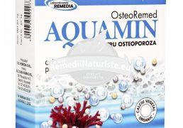 AQUAMIN - CALCIU ORGANIC 30cpr REMEDIA Tratament naturist osteoporoza artroza deficit de calciu si magneziu antiinflamator